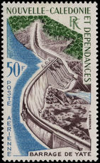 New Caledonia 1959-64 50f Yate Barrage fine lightly mounted mint.