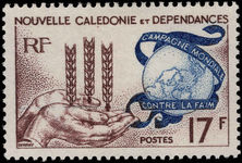 New Caledonia 1963 Freedom From Hunger unmounted mint.