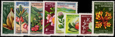 New Caledonia 1964 Flowers set fine lightly mounted mint.