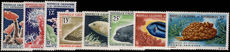 New Caledonia 1964-65 Coral and Marine Mammals fine lightly mounted mint.
