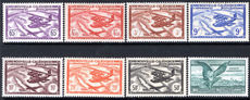 New Caledonia 1942-43 Vichy air set fine lightly mounted mint.