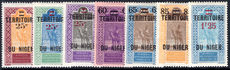 Niger 1922-26 provisional set lightly mounted mint.