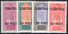Niger 1925-26 new values set lightly mounted mint.
