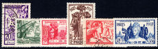 Niger 1937 Paris Exhibition mixed lightly mounted mint and fine used.