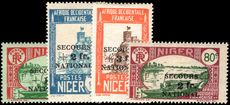 Niger 1941 National Defence Fund lightly mounted mint.