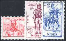 Niger 1941 Empire Defence lightly mounted mint.