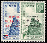 Niger 1944 Oeuvres Coloniales lightly mounted mint.