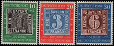 West Germany 1949 Centenary of first German Stamps unmounted mint.