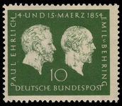 West Germany 1953 Ehrlich and Behring unmounted mint.