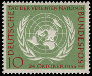 West Germany 1955 United Nations Day unmounted mint.