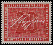 West Germany 1956 Heinrich von Stephan unmounted mint.