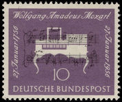West Germany 1956 Mozart unmounted mint.