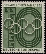 West Germany 1956 Olympic Year unmounted mint.