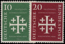 West Germany 1956 Evangelical Church unmounted mint.