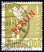 Berlin 1949 1m red overprint fine used.
