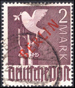 Berlin 1949 2m red overprint fine used.