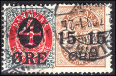 Denmark 1904 Provisionals fine used.