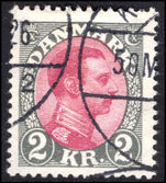 Denmark 1913-28 2kr claret and grey fine used.