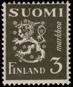 Finland 1930-41 3m bronze-green lightly mounted mint.