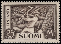 Finland 1930-41 25m Woodcutter lightly mounted mint.