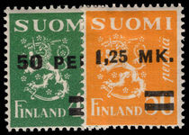 Finland 1931 Provisionals lightly mounted mint.