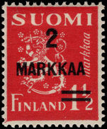 Finland 1937 Provisional lightly mounted mint.