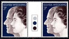 1973 Royal Silver Wedding traffic light gutter pair unmounted mint.