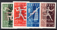 Lithuania 1938 Scouts and Guides unmounted mint.