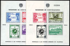 Colombia 1955 Greater Colombia Merchant Marine souvenir sheet mounted mint.