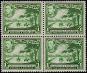 British Guiana 1938-52 1c green perf 14x13 block of 4 unmounted mint.