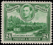 British Guiana 1938-52 24c blue-green sideways watermark unmounted mint.