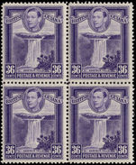 British Guiana 1938-52 36c bright violet perf 12½ block of 4 unmounted mint.