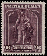 British Guiana 1938-52 96c purple perf 12½x13½ unmounted mint.