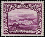 British Guiana 1938-52 $2 purple perf 14x13 unmounted mint.