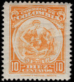 Colombia 1935-44 10c Gold-mining LIT. NATIONAL perf 10½ lightly mounted mint.