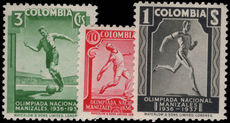 Colombia 1937 National Olympiad lightly mounted mint.