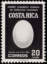 Costa Rica 1983 Human Rights unmounted mint.