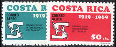 Costa Rica 1969 ILO unmounted mint.