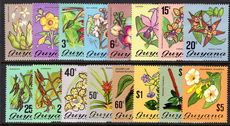 Guyana 1971-76 Flowering Plants set unmounted mint.