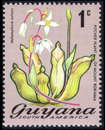 Guyana 1971-76 1c Pitcher Plant unmounted mint.