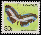 Guyana 1978-80 30c Butterfly unmounted mint.