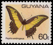 Guyana 1978-80 60c Butterfly unmounted mint.