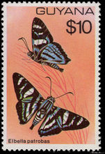Guyana 1978-80 $10 Butterfly unmounted mint.