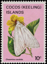 Cocos (Keeling) Islands 1983 10c Butterfly unmounted mint.