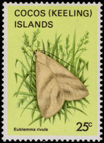 Cocos (Keeling) Islands 1983 25c Butterfly unmounted mint.
