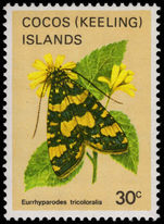 Cocos (Keeling) Islands 1983 30c Butterfly unmounted mint.