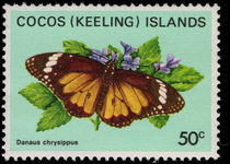 Cocos (Keeling) Islands 1983 50c Butterfly unmounted mint.