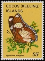 Cocos (Keeling) Islands 1983 55c Butterfly unmounted mint.