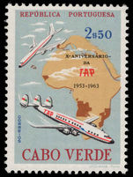 Cape Verde 1963 TAP Airlines unmounted mint.
