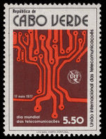 Cape Verde 1977 International Telecommunications Day unmounted mint.